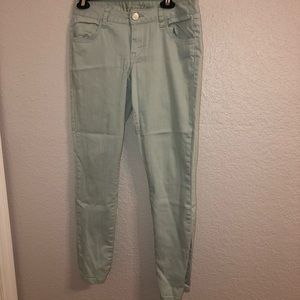 Mint skinny jeans